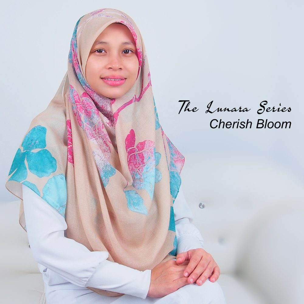 Tudung Bawal Labuh Cotton Turki Bidang 60 Cherish Bloom | AnnurNida