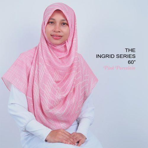 Tudung Bawal Labuh Cotton Turki Bidang 60 Pink Porcelain