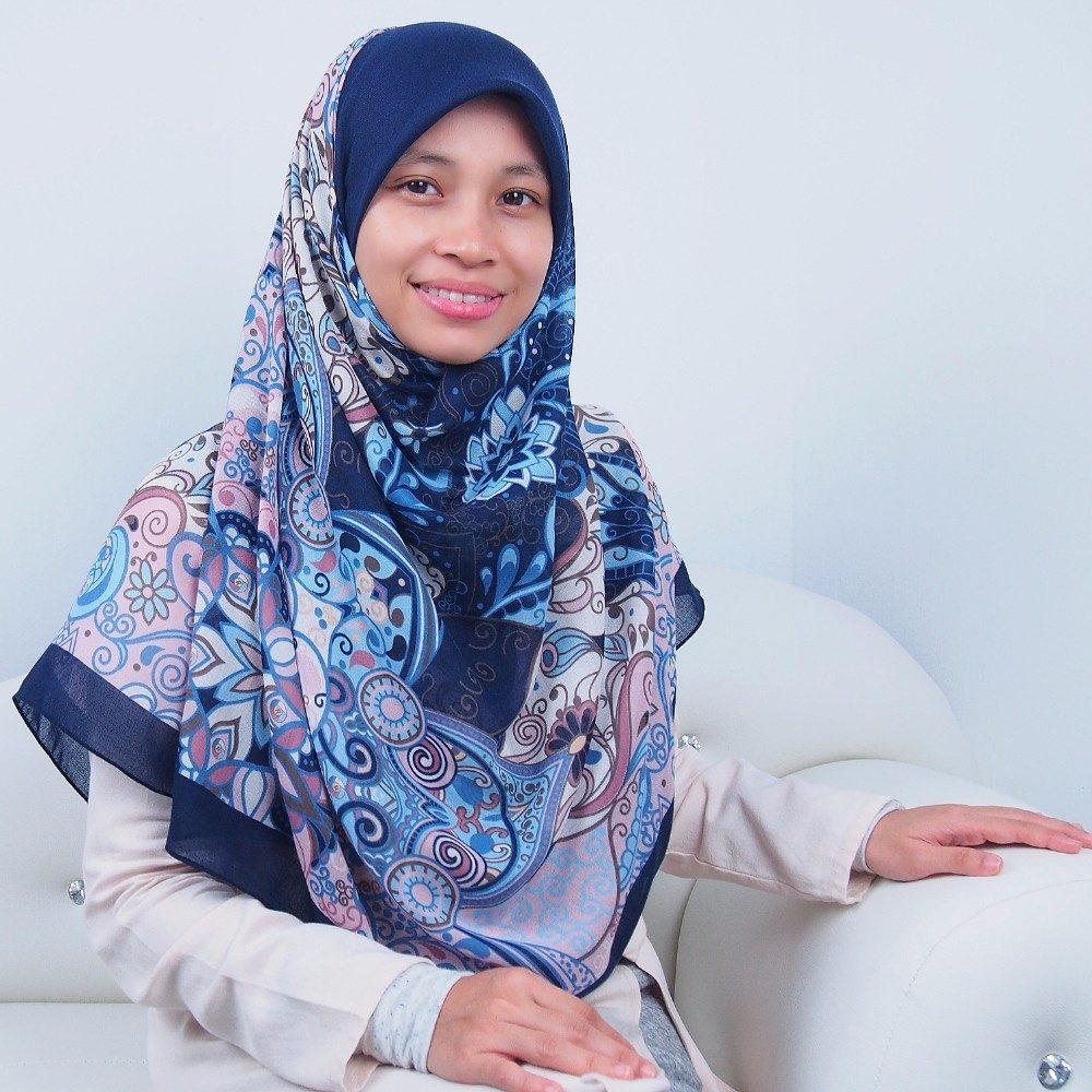 Tudung Bawal Labuh Cotton Turki Bidang 60 Luxury Blue | AnnurNida