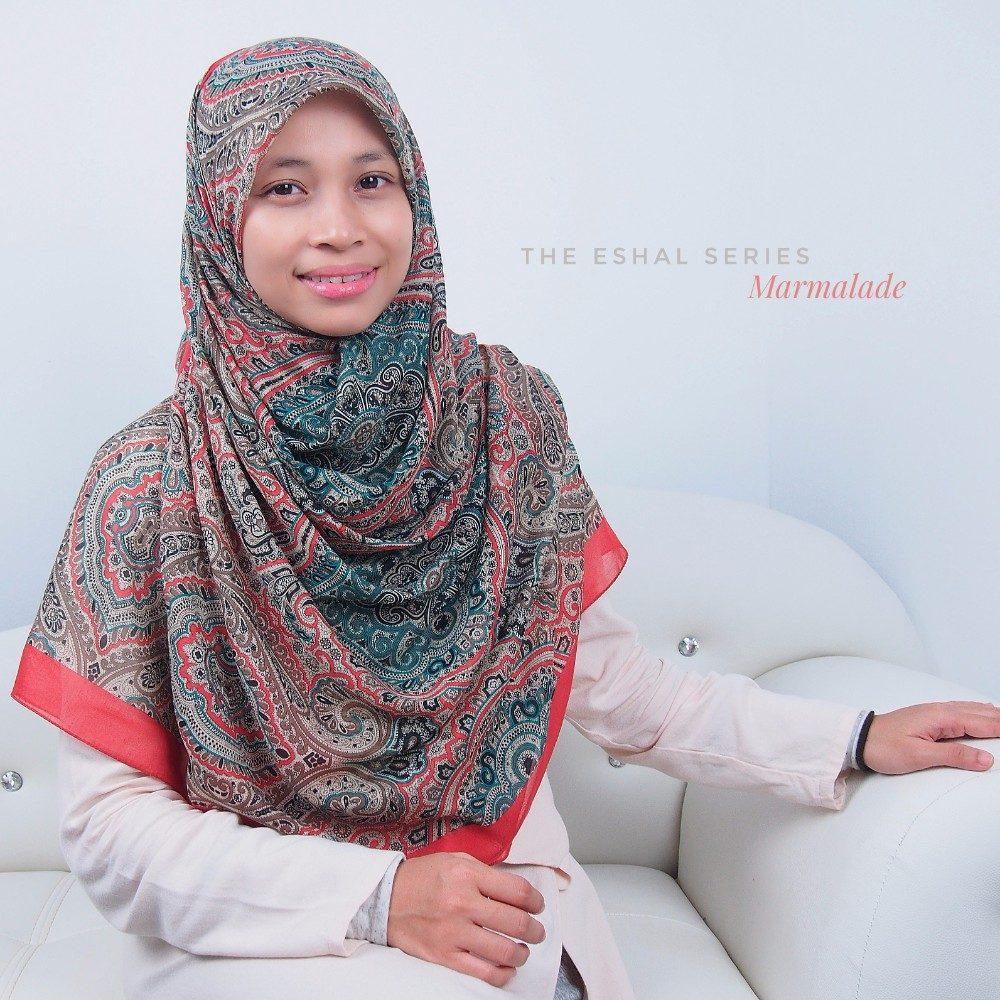 Tudung Bawal Labuh Cotton Turki Bidang 60 Marmalade | AnnurNida