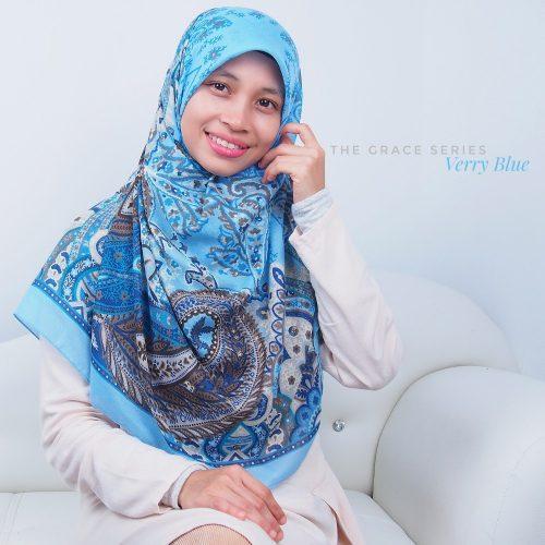 Tudung Bawal Labuh Cotton Turki Bidang 60 Verry Blue