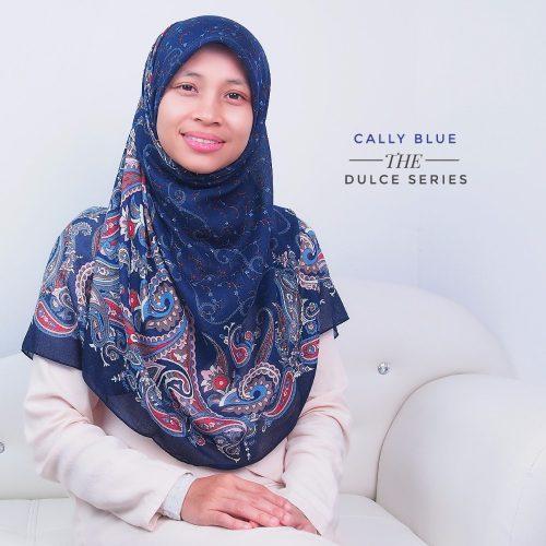 Tudung Bawal Labuh Cotton Turki Bidang 50 Cally Blue