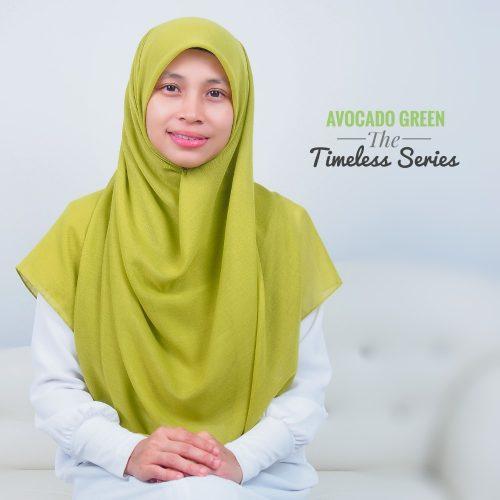 Tudung Bawal Labuh Cotton Turki Bidang 60 Avocado Green