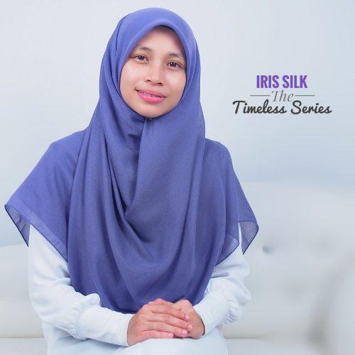 Tudung Bawal Labuh Cotton Turki Bidang 60 Iris Silk