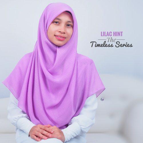 Tudung Bawal Labuh Cotton Turki Bidang 60 Lilac Hint