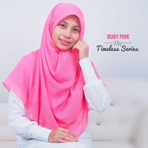 Tudung Bawal Labuh Cotton Turki Bidang 60 Ruby Pink
