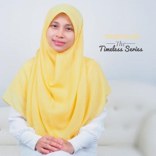 Tudung Bawal Labuh Cotton Turki Bidang 60 Stylish Yellow