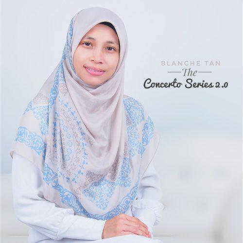 Tudung Bawal Labuh Cotton Turki Bidang 50 Blanche Tan