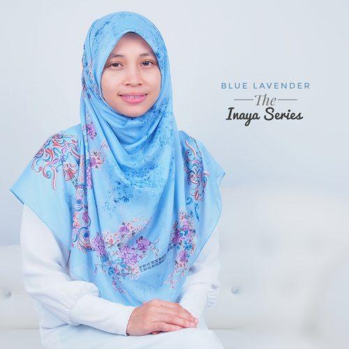 Tudung Bawal Labuh Cotton Turki Bidang 50 Blue Lavender