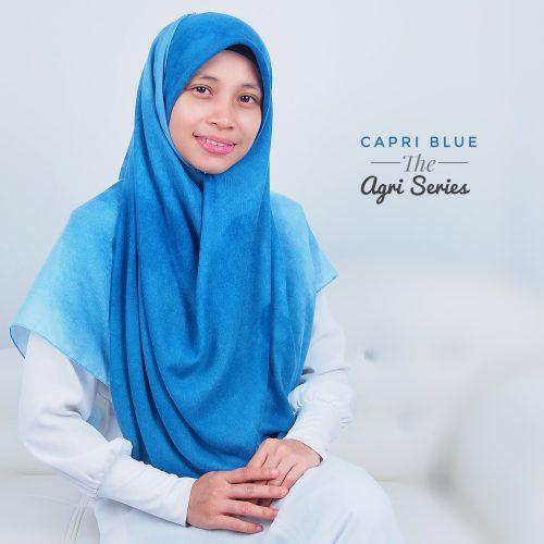 Tudung Bawal Labuh Cotton Turki Bidang 60 Capri Blue