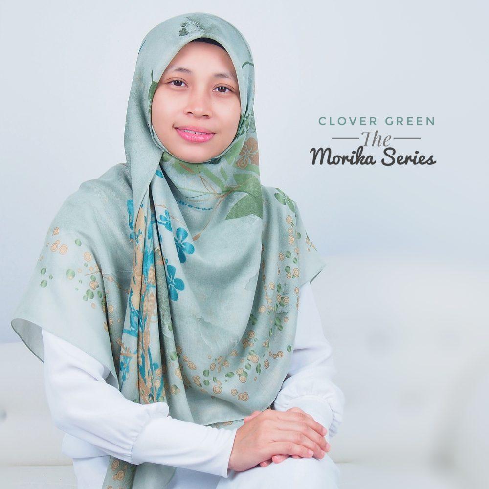 Tudung Bawal Labuh Cotton Turki Bidang 60 Clover Green | AnnurNida