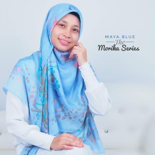 Tudung Bawal Labuh Cotton Turki Bidang 60 Maya Blue