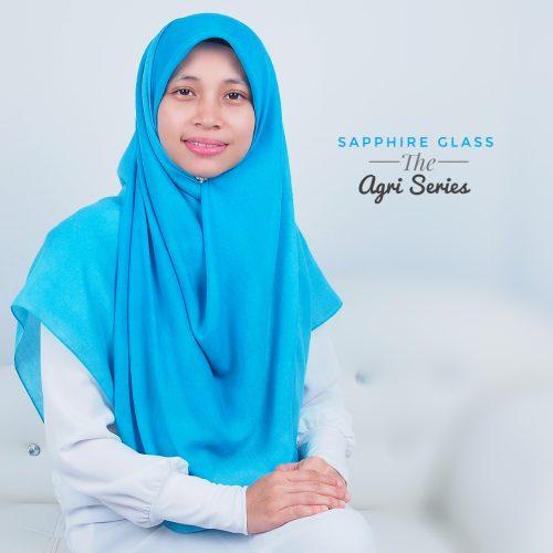 Tudung Bawal Labuh Cotton Turki Bidang 60 Sapphire Glass