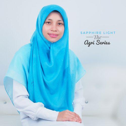 Tudung Bawal Labuh Cotton Turki Bidang 60 Sapphire Light