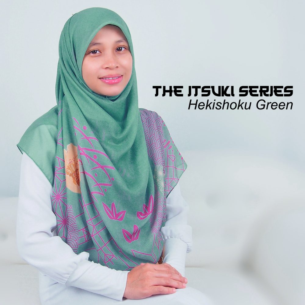 Tudung Bawal Labuh Cotton Turki Bidang 60 Hekishoku Green | AnnurNida