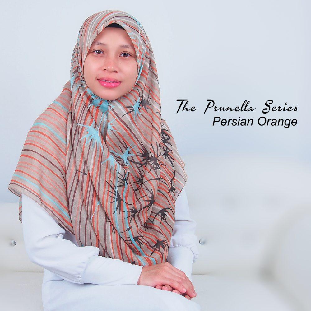 Tudung Bawal Labuh Cotton Turki Bidang 60 Persian Orange | AnnurNida