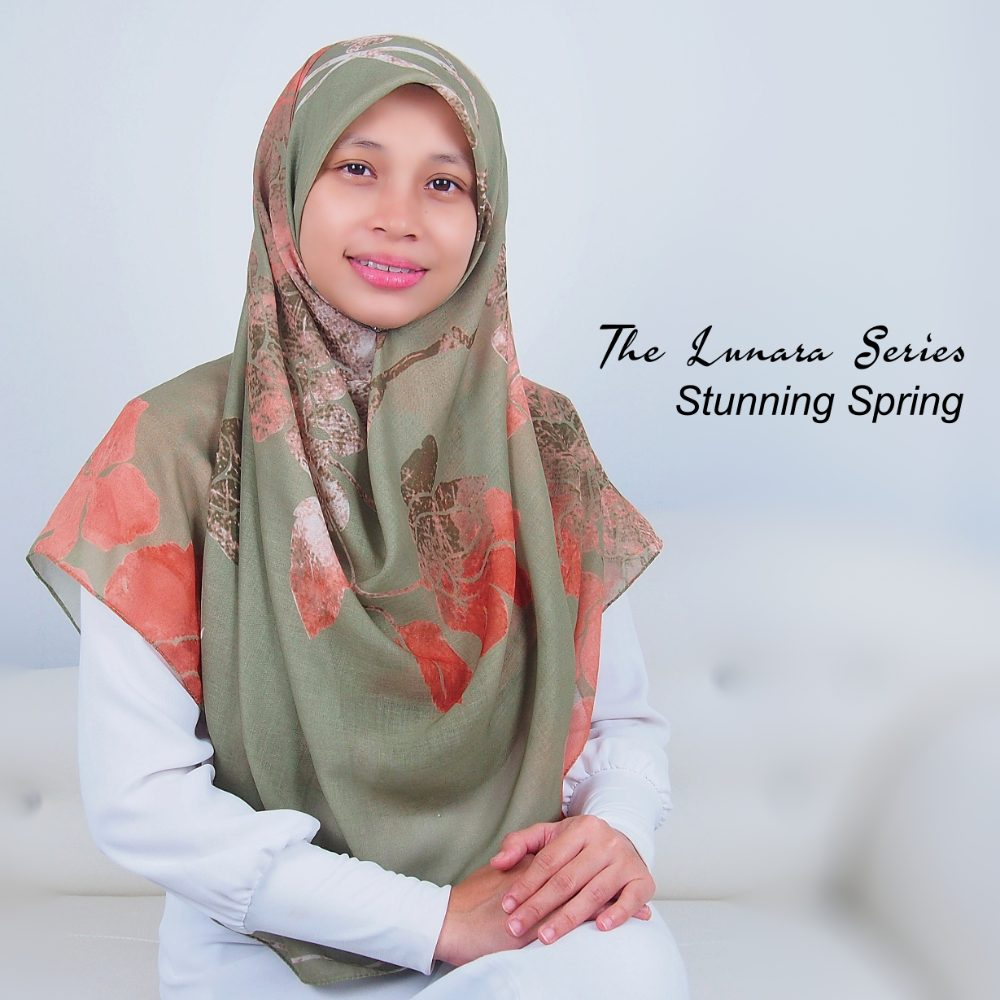 Tudung Bawal Labuh Cotton Turki Bidang 60 Stunning Spring | AnnurNida
