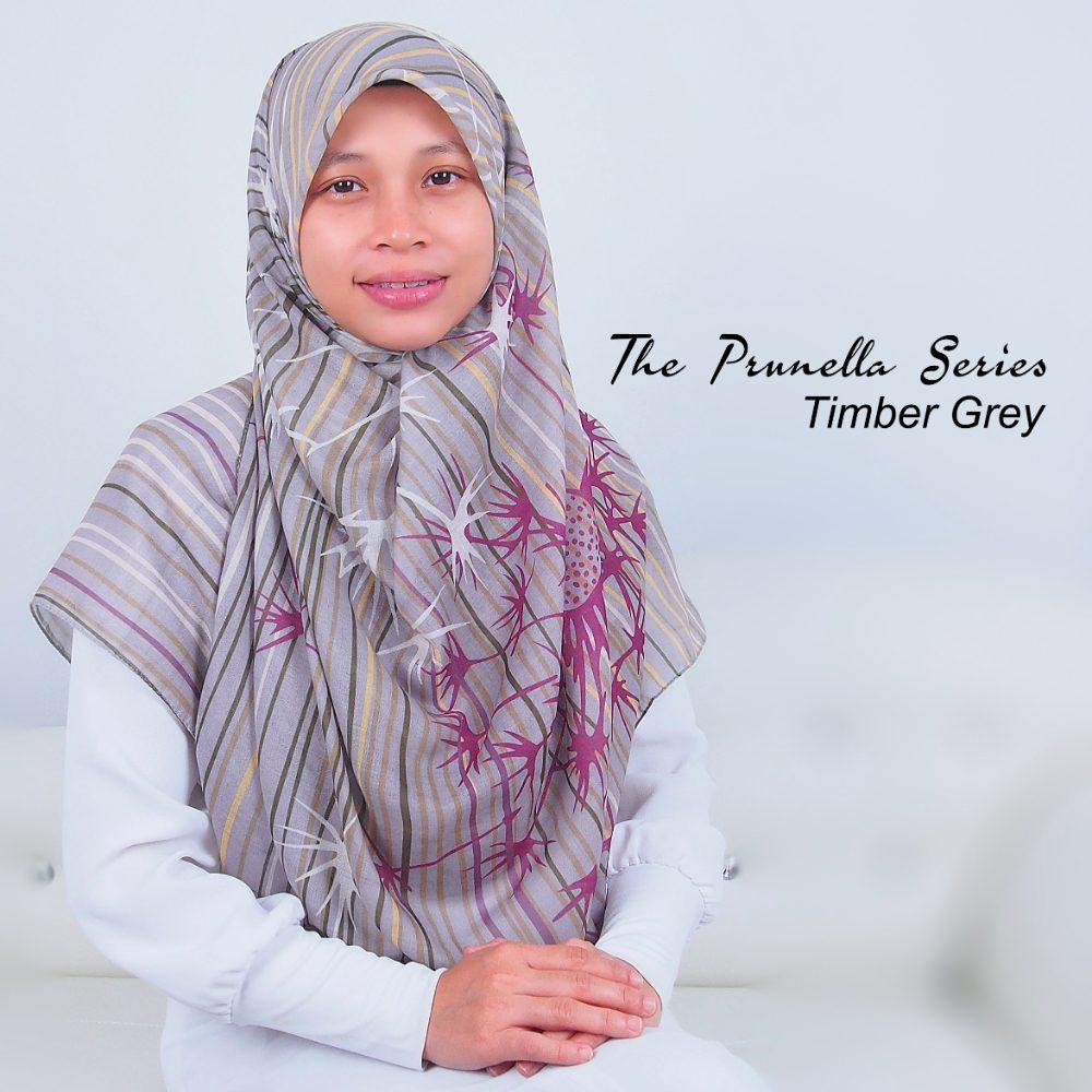 Tudung Bawal Labuh Cotton Turki Bidang 60 Timber Grey | AnnurNida