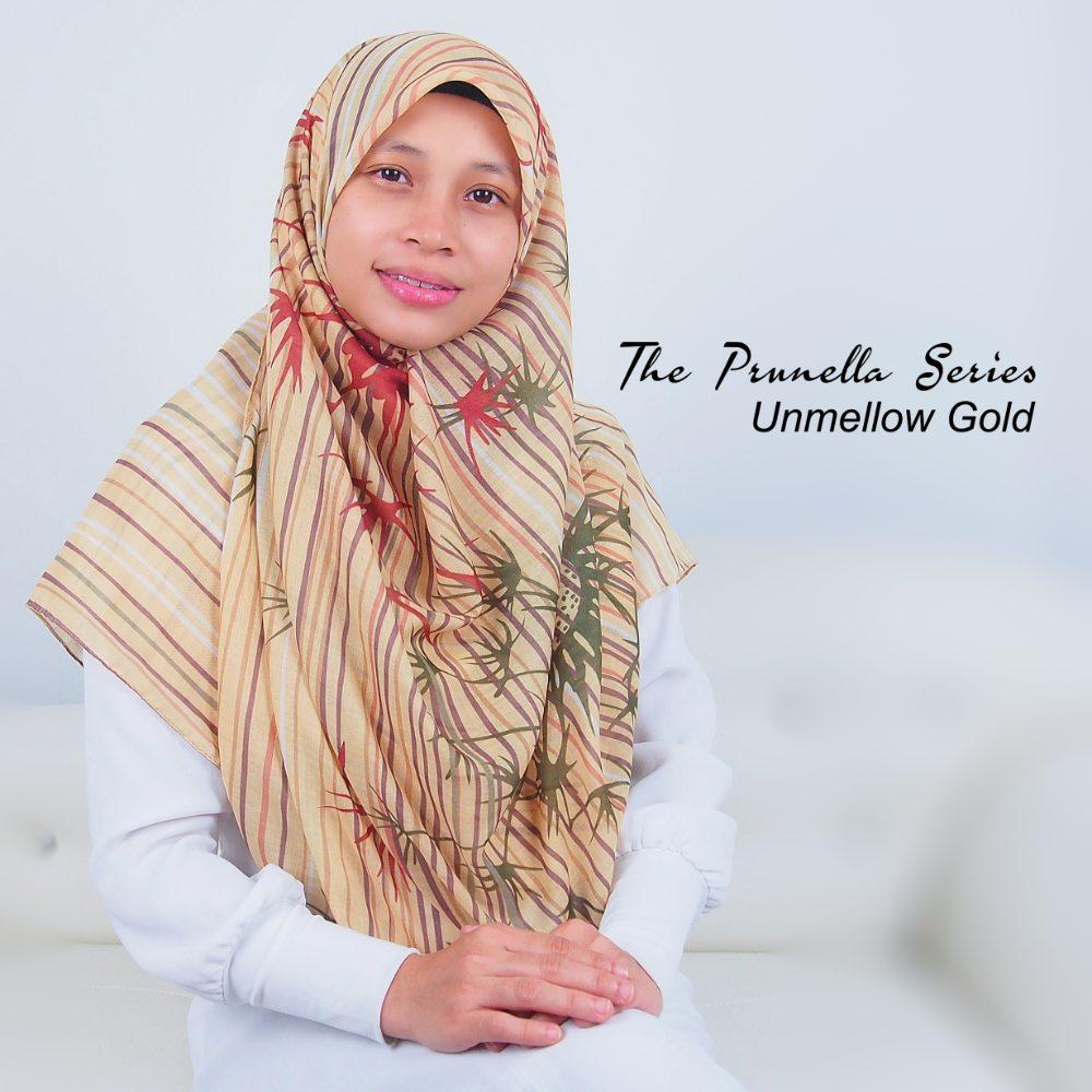 Tudung Bawal Labuh Cotton Turki Bidang 60 Unmellow Gold | AnnurNida