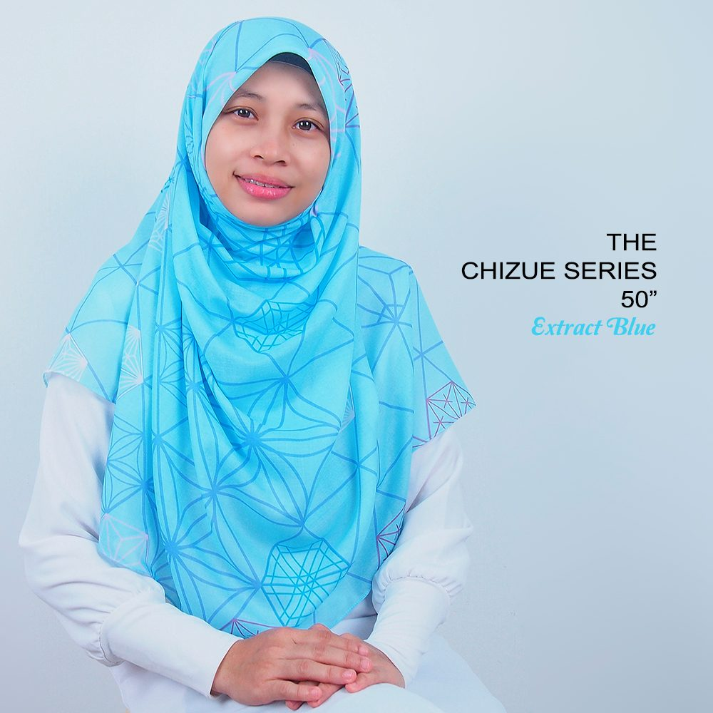 Tudung Bawal Labuh Cotton Turki Bidang 50 Extract Blue | AnnurNida