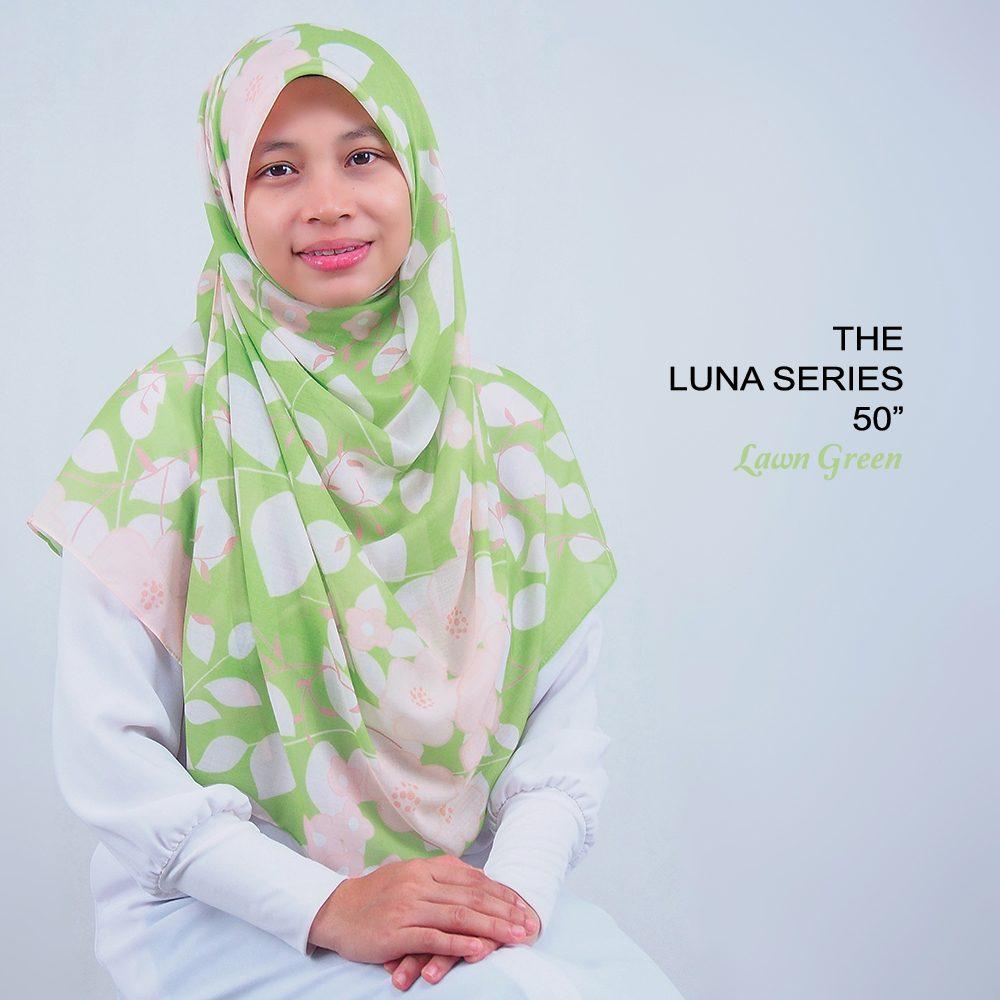 Tudung Bawal Labuh Cotton Turki Bidang 50 Lawn Green | AnnurNida