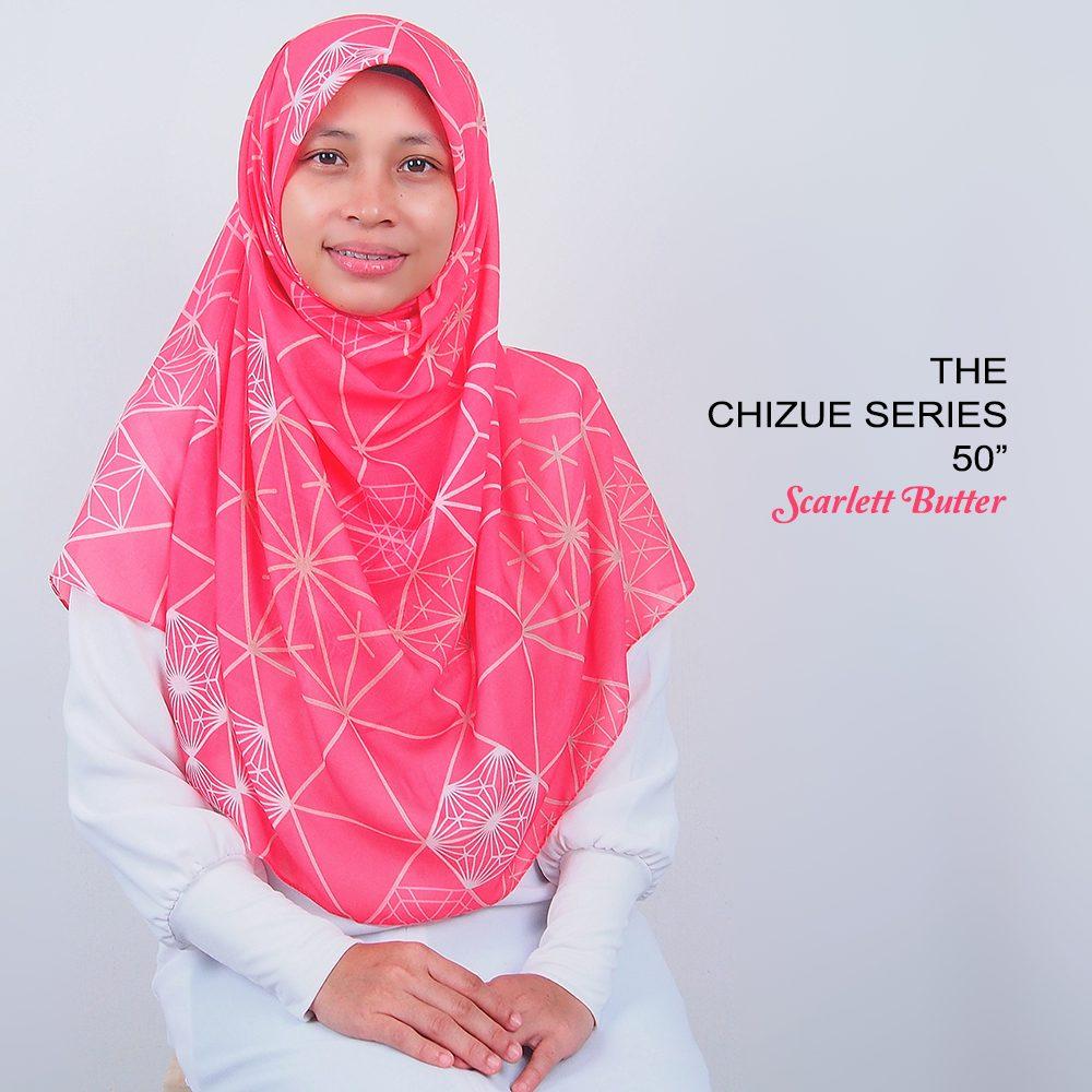 Tudung Bawal Labuh Cotton Turki Bidang 50 Scarlett Butter | AnnurNida