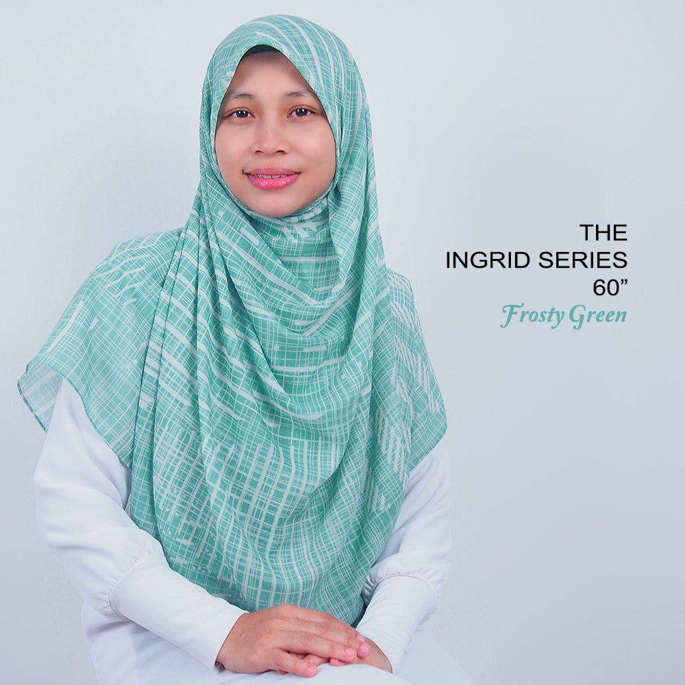 Tudung Bawal Labuh Cotton Turki Bidang 60 Frosty Green | AnnurNida