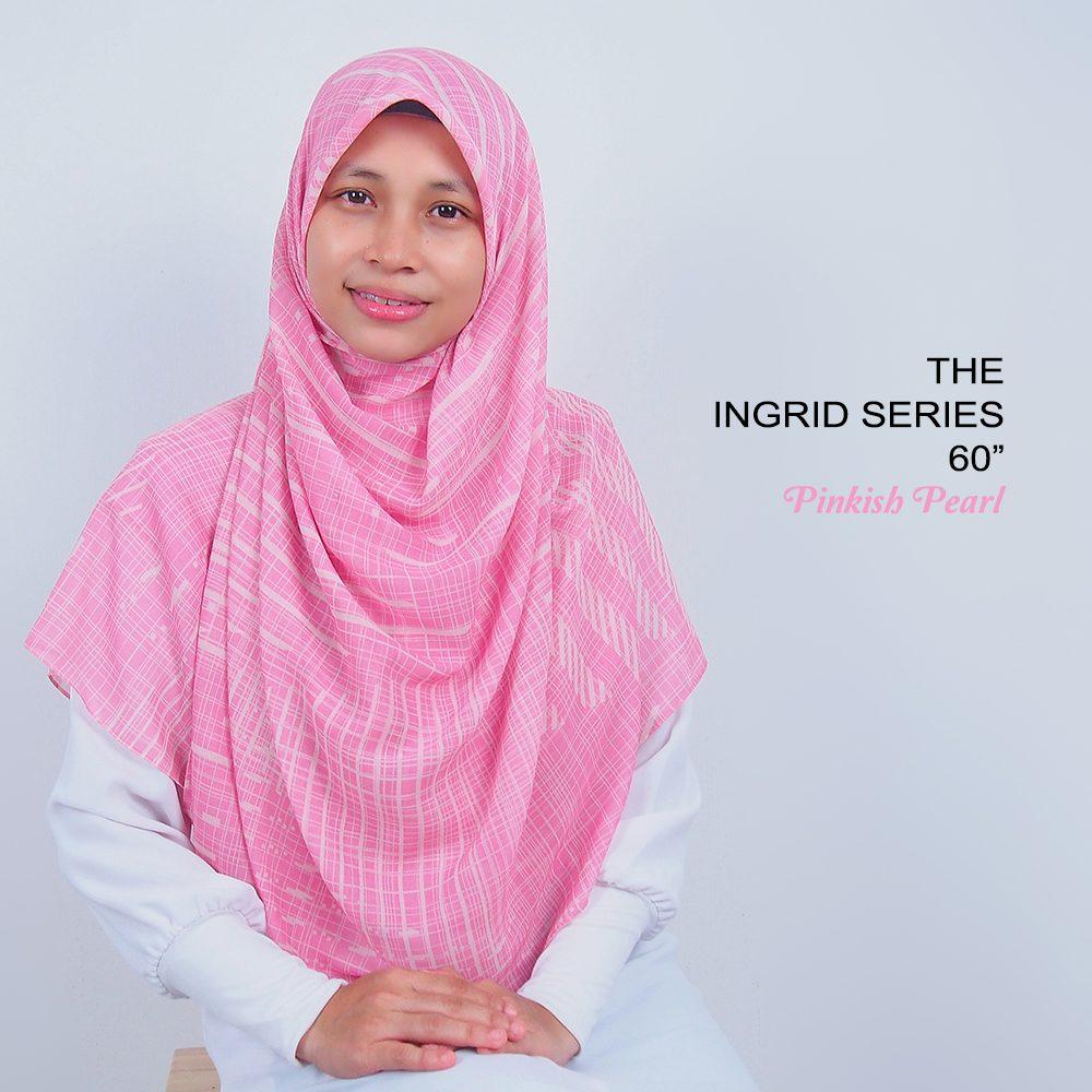 Tudung Bawal Labuh Cotton Turki Bidang 60 Pinkish Pearl | AnnurNida