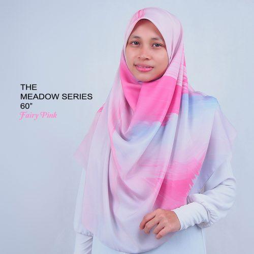 Tudung Bawal Labuh Cotton Turki Bidang 60 Fairy Pink