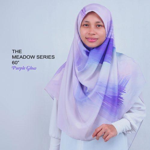 Tudung Bawal Labuh Cotton Turki Bidang 60 Purple Glow
