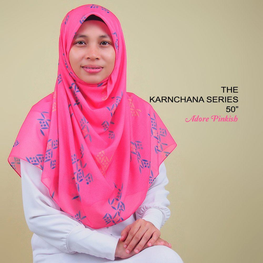 Tudung Bawal Labuh Bidang 50 Cotton Turki Adore Pinkish | AnnurNida